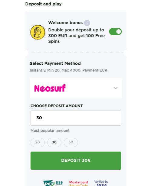 hoe werkt neosurf in online casino