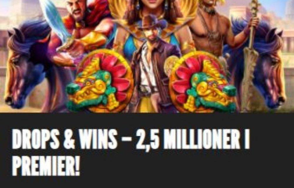 wins og drops hos rizk 2.5 millioner i premier