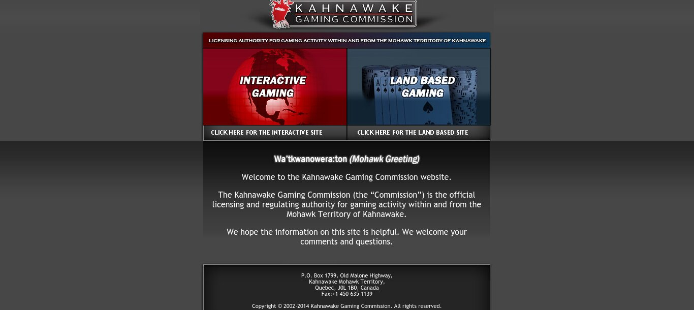 Kahnawake casino vergunning betrouwbaar